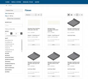 Kategorie-Filter und fehlertolerante Suche via Findologic
